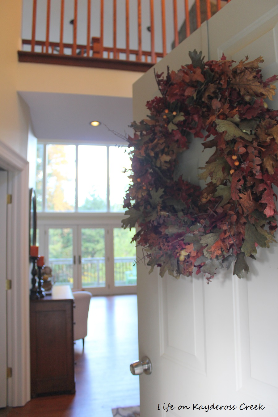 Farmhouse Fall Home Tour - Making an entrance - Life on Kaydeross Creek