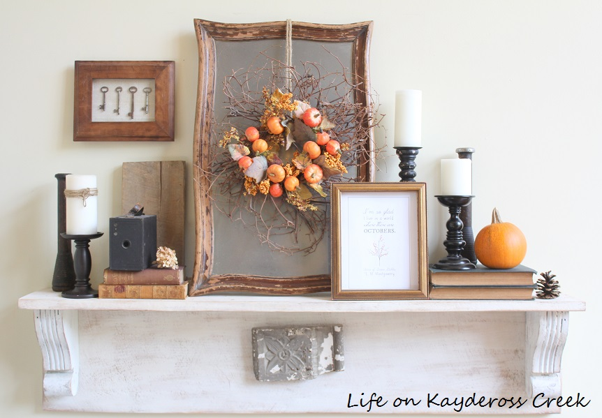 Farmhouse Fall Home Tour - Natural Elements, layers and pops of color - Life on Kaydeross Creek