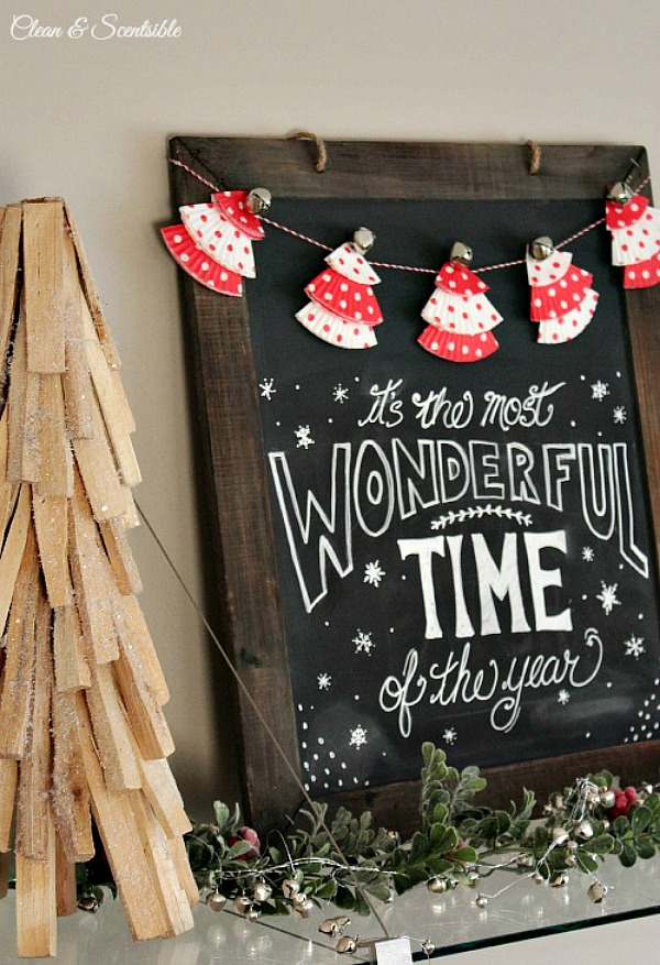 20 Ways to Decorate for Christmas on a Budget - christmas-chalkboard - DIY Budget friendly Christmas Decor Ideas - Life on Kaydeross Creek