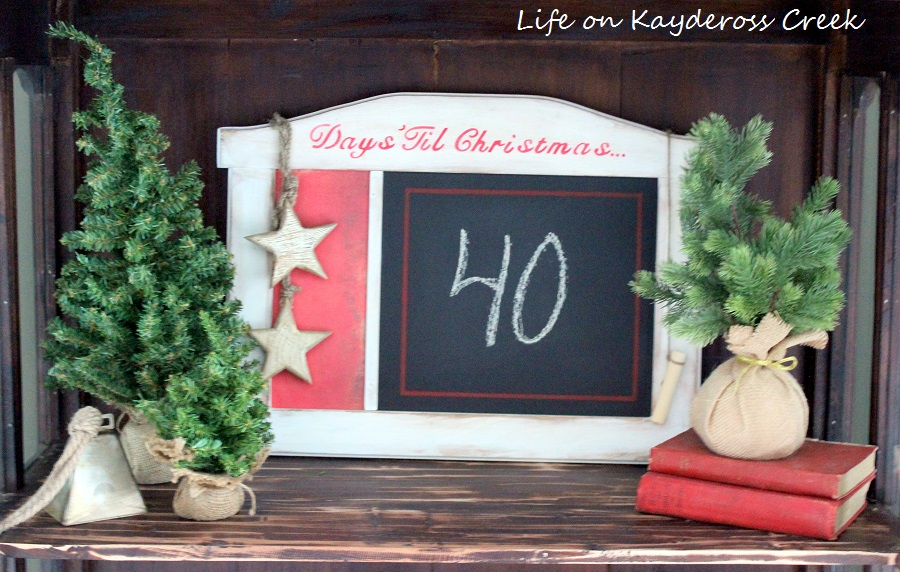 Countdown to Christmas Project - Trash to Treasure Project - Life on Kaydeross Creek- Budget Friendly Christmas Decor