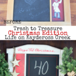 Countdown to Christmas Project - Trash to Treasure - Upcycle - Life on Kaydeross Creek