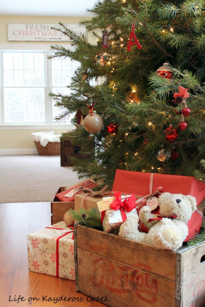 A Very Farmhouse Christmas Home Tour - Christmas Tree - Life on Kaydeross Creek