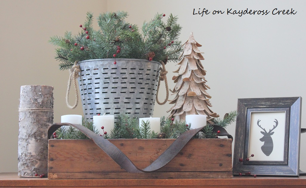 Family Room Fireplace - A Very Farmhouse Christmas Home Tour - Life on Kaydeross Creek