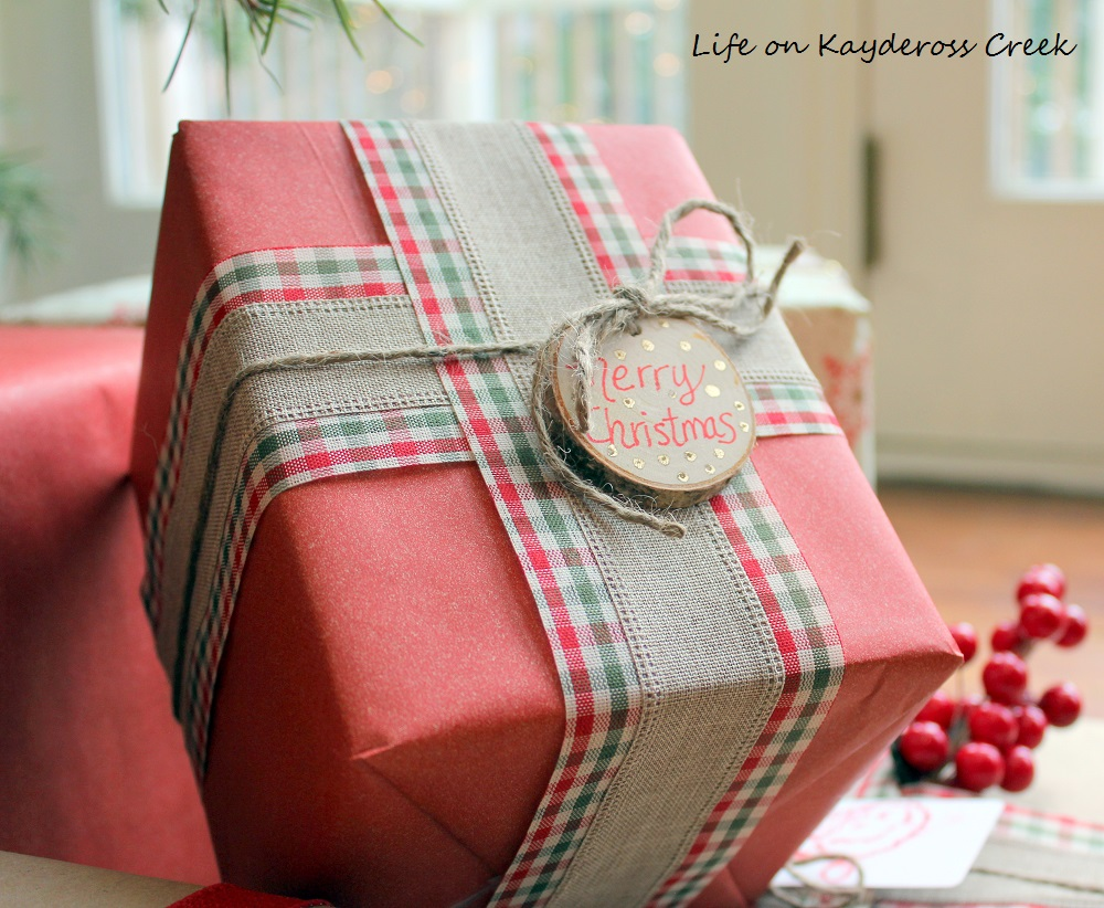 DIY Christmas Gift Tags - A Very Farmhouse Christmas Home Tour - Life on Kaydeross Creek