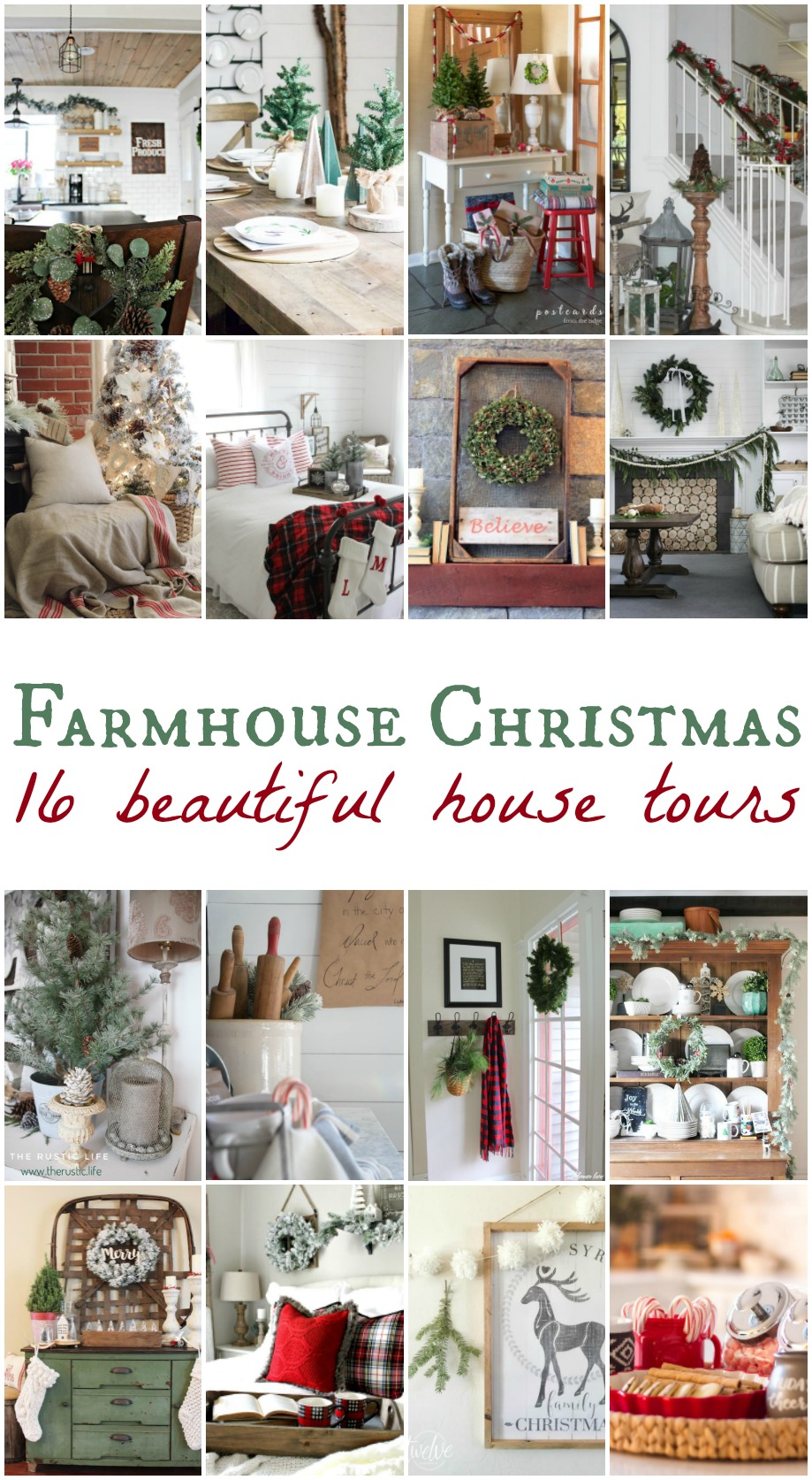 A Very Farmhouse Christmas Home Tour - 16 Bloggers Welcome You - Life on Kaydeross Creek