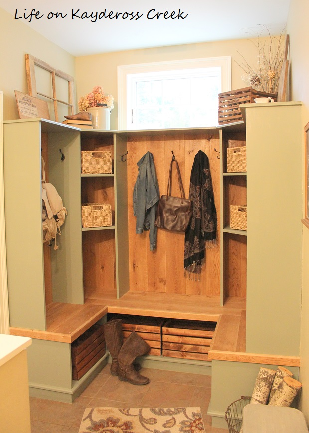 Farmhouse Mudroom Organization - Life on Kaydeross Creek