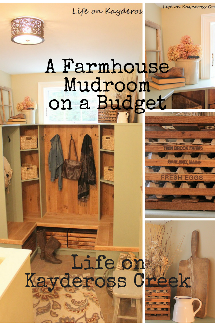 Farmhouse Mudroom - DIY Projects and Garage Sale Finds - Life on Kaydeross Creek