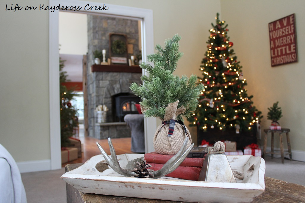 Playroom Decorated for Christmas - A Very Farmhouse Christmas - Life on Kaydeross Creek