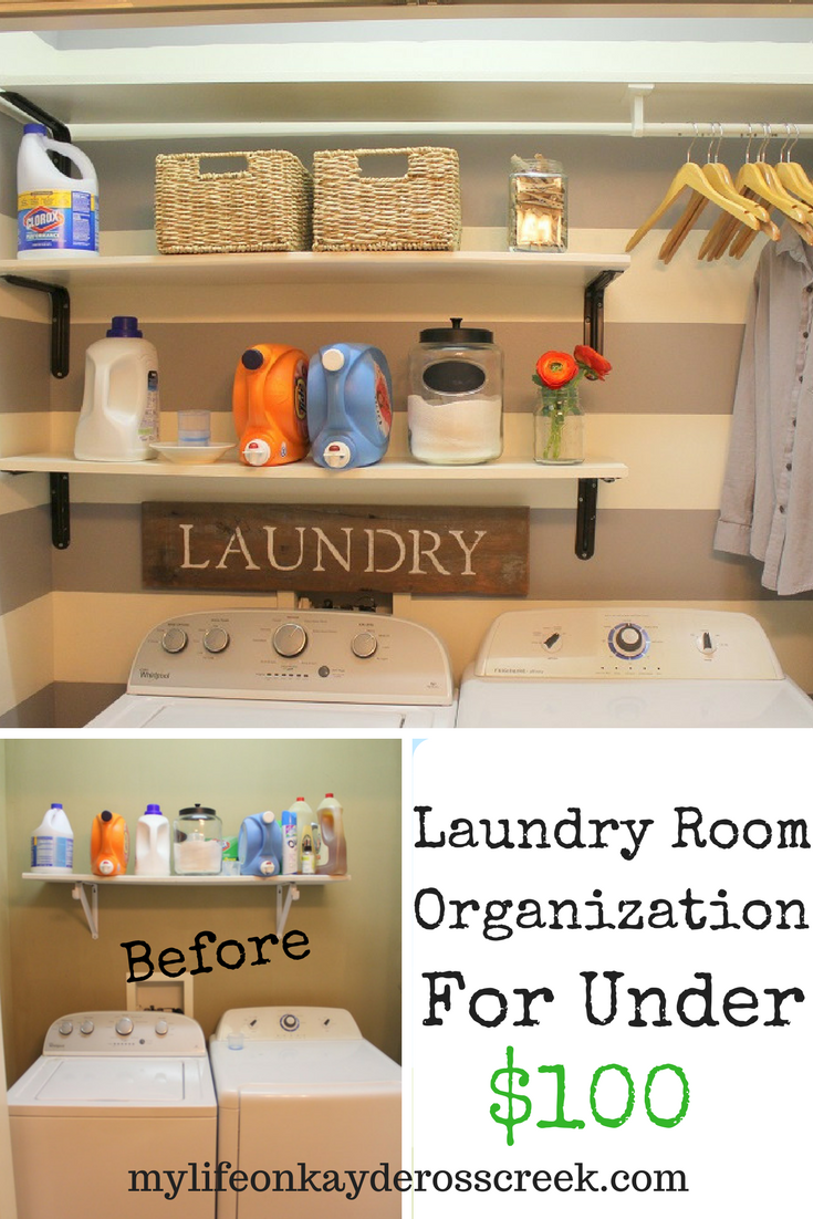 Laundry Room Organization for Under $100 - Paint, DIY Projects and Farmhouse Touches - Life on Kaydeross Creek