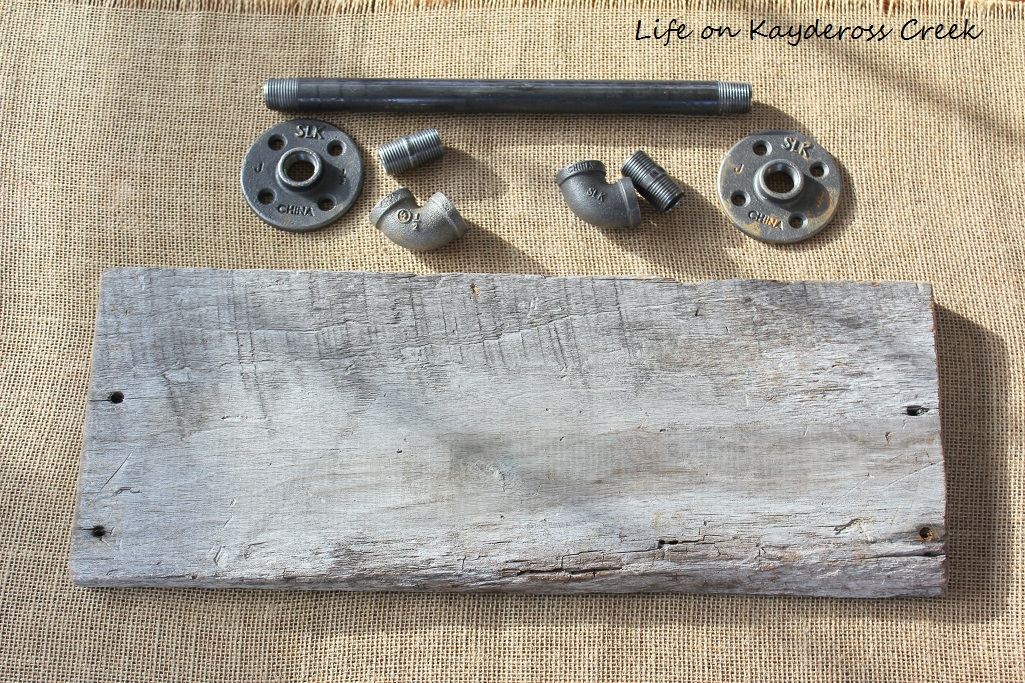 Reclaimed Wood & Pipe Towel Rack - Project Challenge - Life on Kaydeross Creek