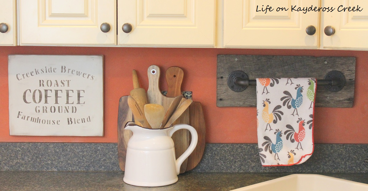 Reclaimed Wood Project Challenge - Pipe towel rack - Life on Kaydeross Creek