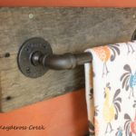 Reclaimed Wood & Pipe Towel Rack