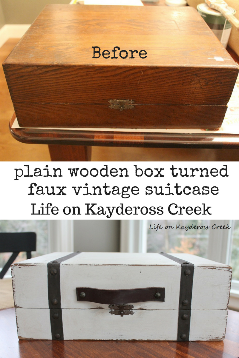 Thrift Store Upcycle Project Faux Vintage Suitcase - Life on Kaydeross Creek