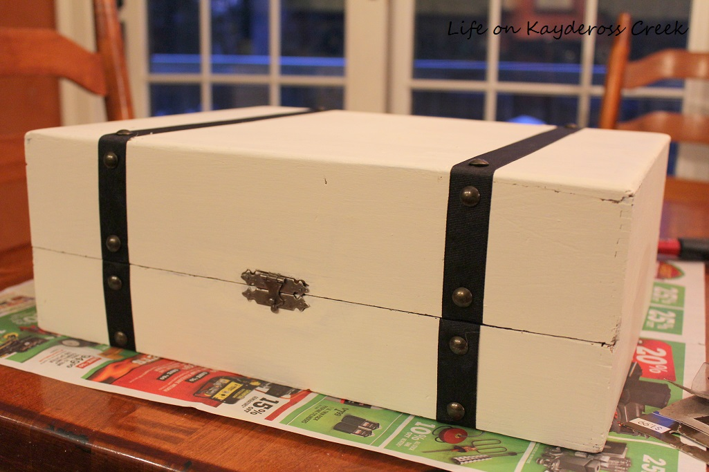 Thrift Store Upcycle - faux suitcase project - Life on Kaydeross Creek