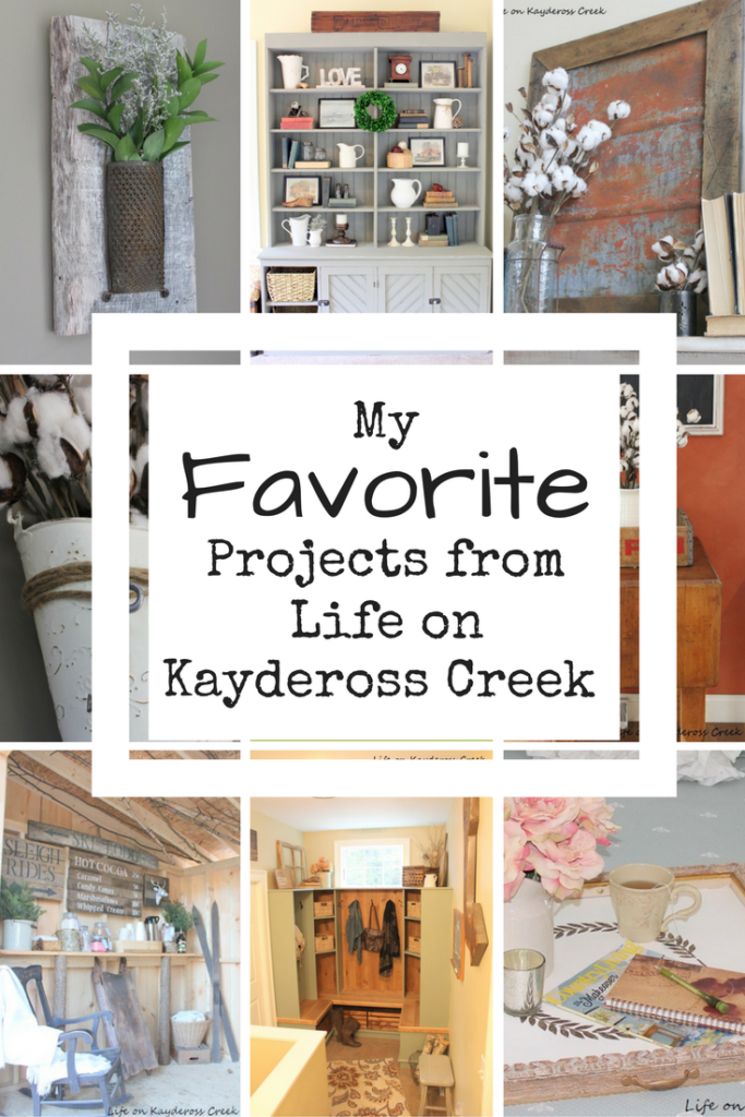 Top 10 favorite projects from Life on Kaydeross Creek - furniture re-dos, upcycled projects and Room updates