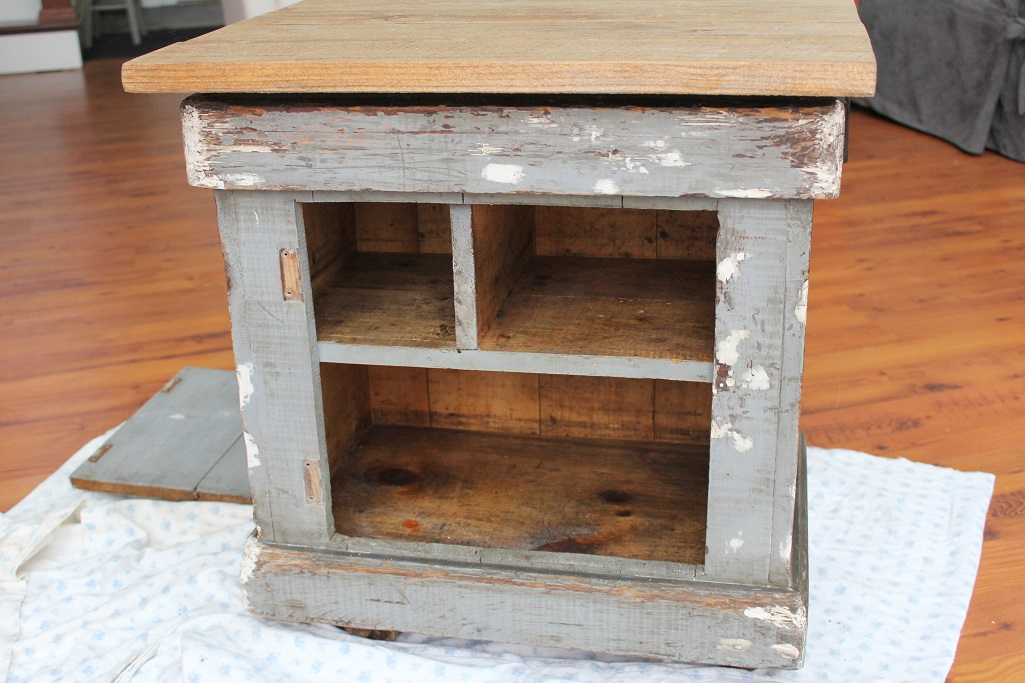 Antique Sewing Table Makeover - Upcycle Challenge -Life on Kaydeross Creek