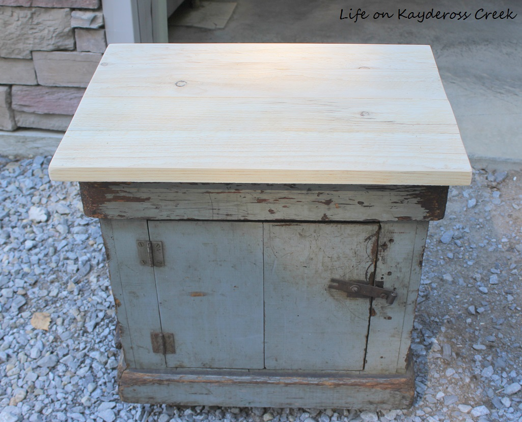 Antique Sewing Table makeover thrift store upcycle challenge - Life on Kaydeross Creek