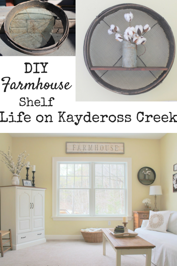 DIY Farmhouse shelf - Project Challenge- Life on Kaydeross Creek