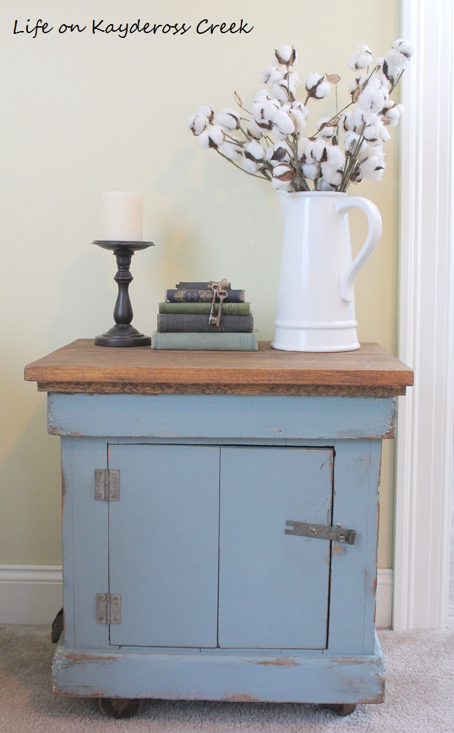Antique Sewing table makeover - trash to treasure upcycle - Life on Kaydeross Creek