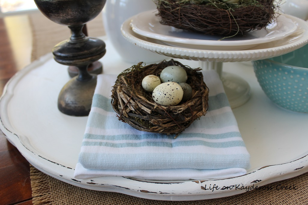 DIY tray made from a three tiered table - details- upcycle challenge - Life on Kaydeross Creek