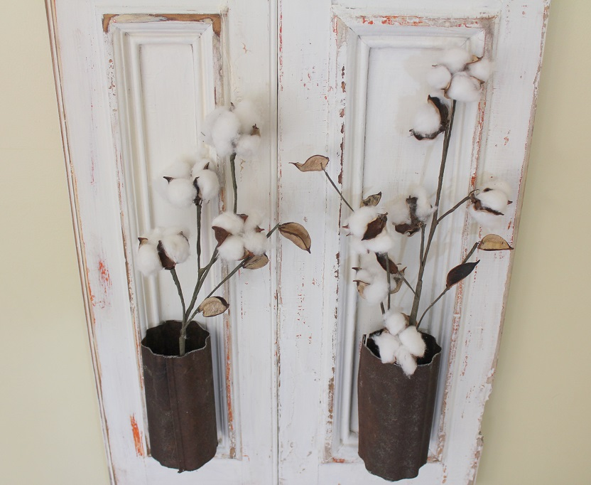 Farmhouse Wall Decor - Old Shutter turned wall decor - Fixer Upper Style - Life on Kaydeross Creek