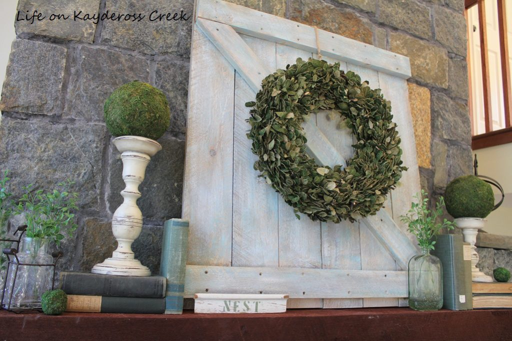 Spring Decor - DIY Mini barn door - Life on Kaydeross Creek