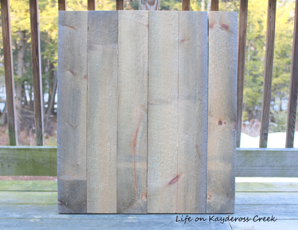 Spring Decor - Making a mini barn door - back - Life on Kaydeross Creek