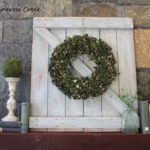 Spring Decor - Making a mini barn door - color wash - Life on Kaydeross Creek
