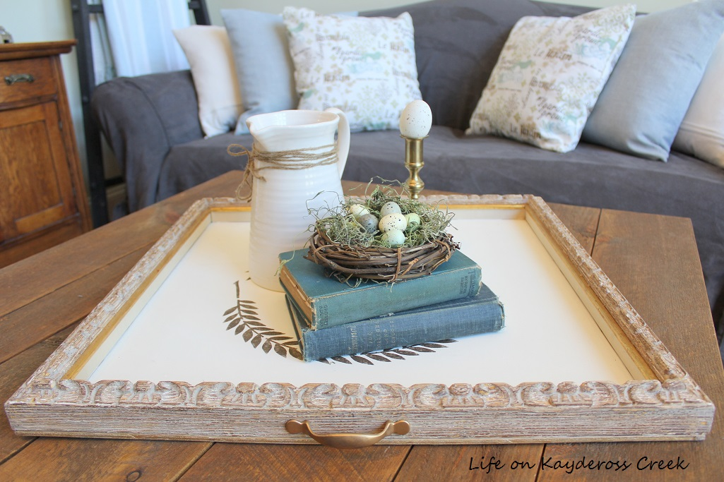 Farmhouse - Spring Home Tour 2017 - Family Room - DIY Tray - Life on Kaydeross Creek