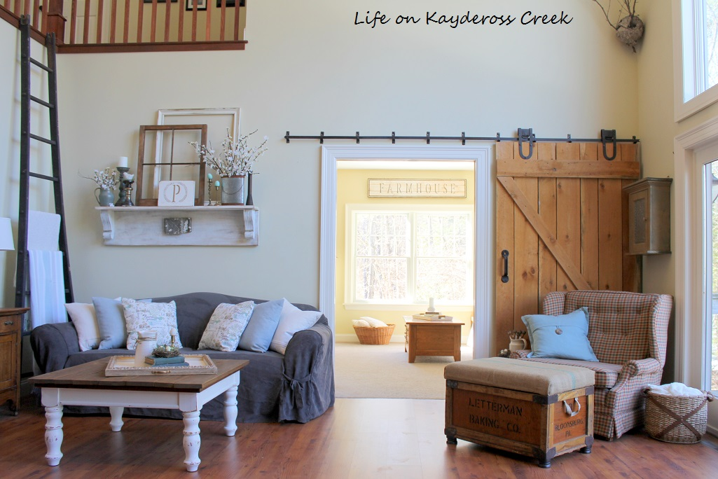 Spring Home Tour - Family Room and Den - Life on Kaydeross Creek