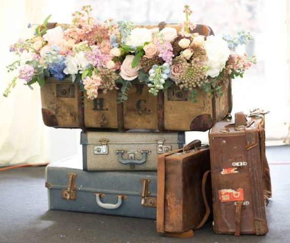 Creative Ways to Display Flowers - Suitcase - Life on Kaydeross Creek
