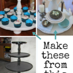 Tray and Cupcake Stand from Three tiered table - Life on Kaydeross Creek
