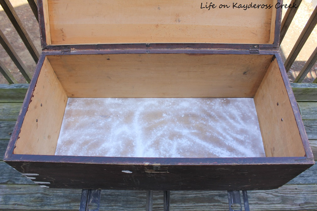 Antique Trunk Makeover - Getting the smell out - Life on Kaydeross Creek