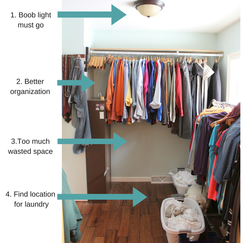 Master Bedroom Closet Makeover organization to do list - Life on Kaydeross Creek