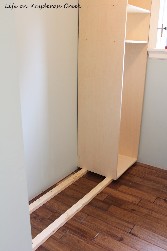 Master Bedroom Closet Makeover - installing the boxes - Life on Kaydeross Creek