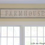 How to make a DIY Rustic Farmhouse Sign - Life on Kaydeross Creek