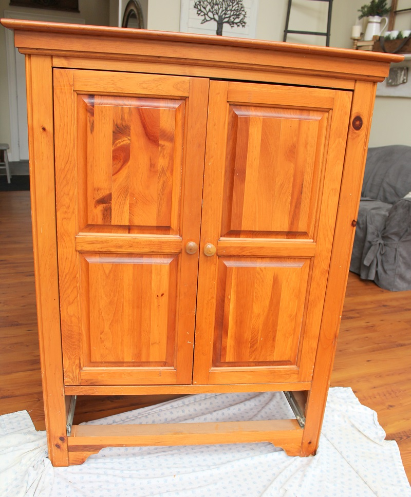 Master Bedroom Closet Makeover - Armoire used for storage before - Life on Kaydeross Creek