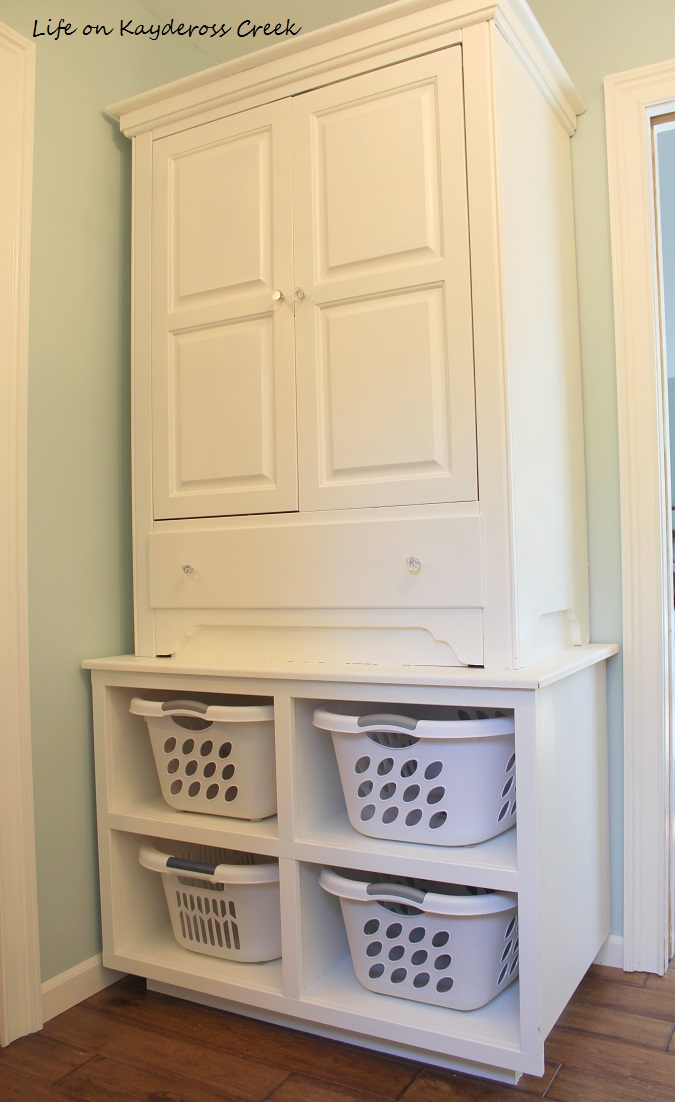 Master Bedroom Closet Makeover - More storage using an old TV armoire - Life on Kaydeross Creek