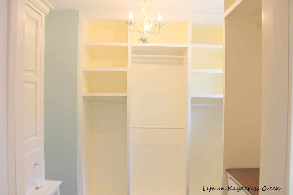 Master Bedroom Closet Makeover - full view - Life on Kaydeross Creek