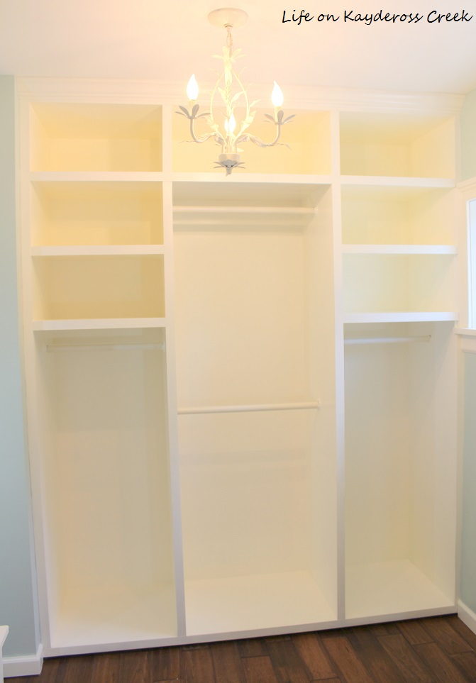 Master Bedroom Closet Makeover - side wall completed - Life on Kaydeross Creek