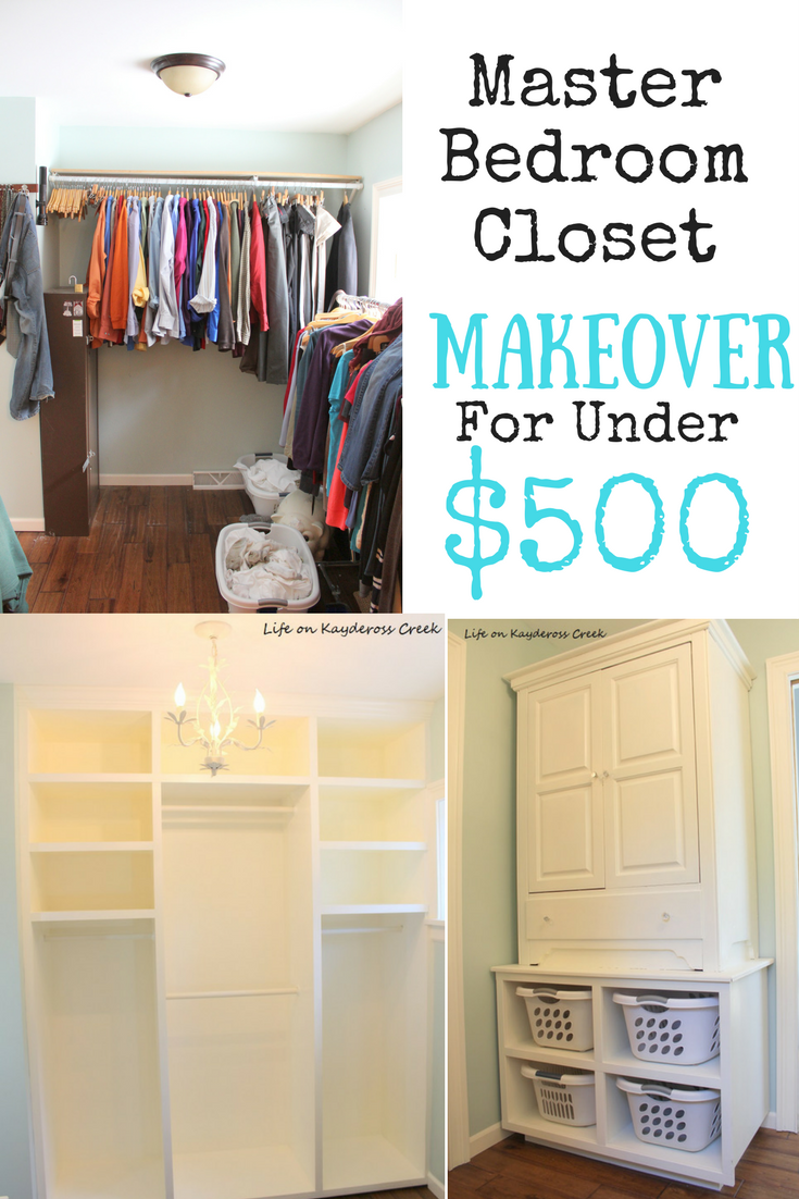 Master Bedroom Closet Makeover for under $500 - Life on Kaydeross Creek