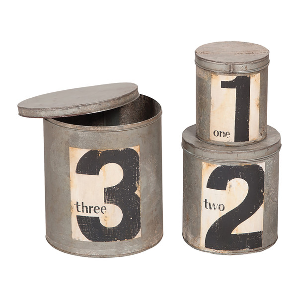 Birch Lane 3 Piece Metal Nesting Tins