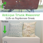Antique Trunk Makeover