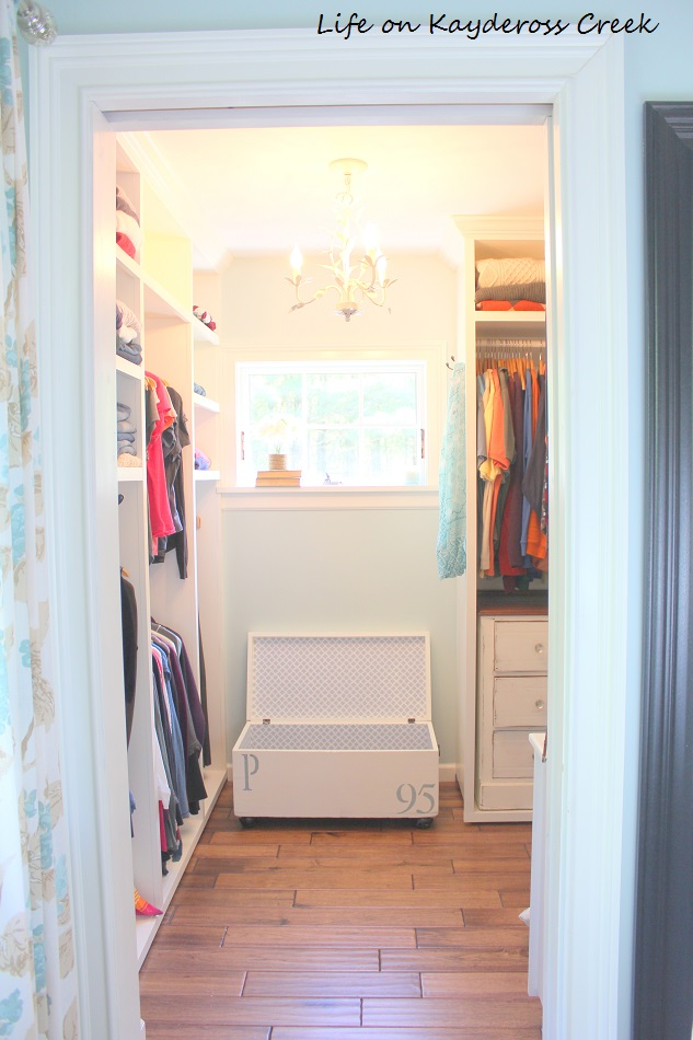 Antique Trunk Makeover - More Master Bedroom Closet Storage - Life on Kaydeross Creek