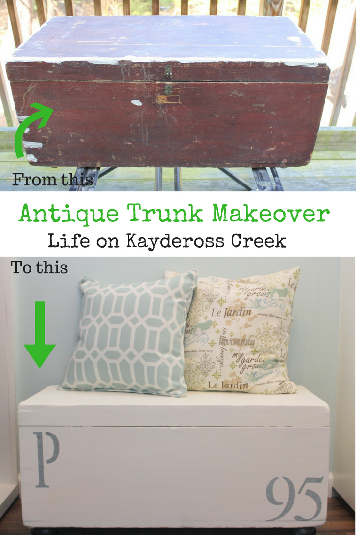 Antique Trunk Makeover - Life on Kaydeross Creek