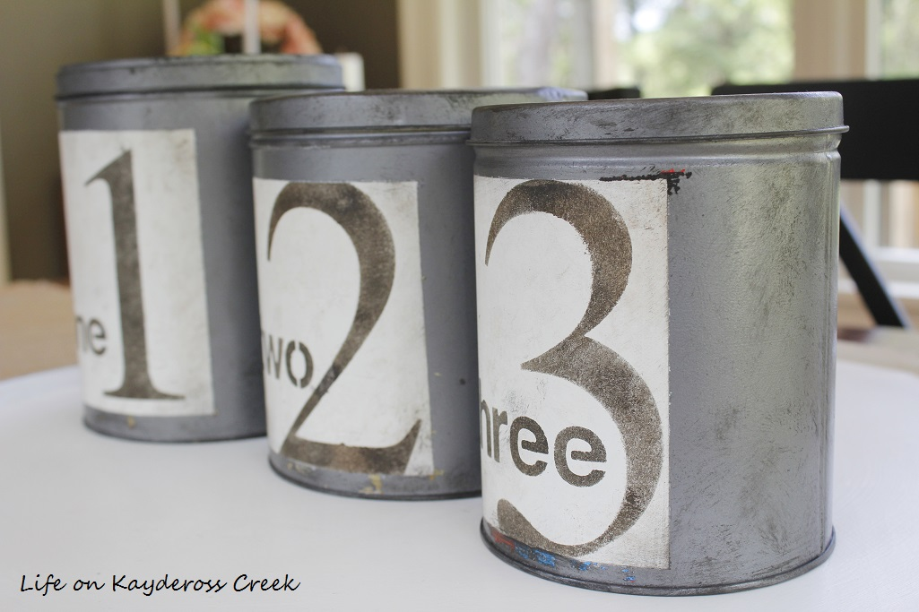 DIY Farmhouse Canister Set - distressed - Life on Kaydeross Creek