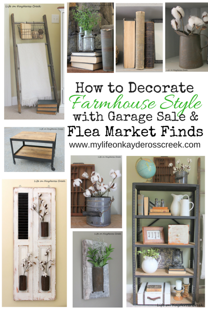 Decorating with Flea Market Finds - Life on Kaydeross Creek