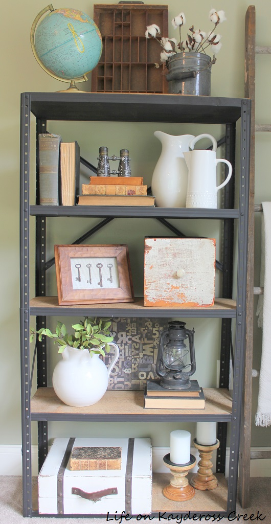 Decorating with Flea Market Finds - Shelf Accessories - Life on Kaydeross Creek