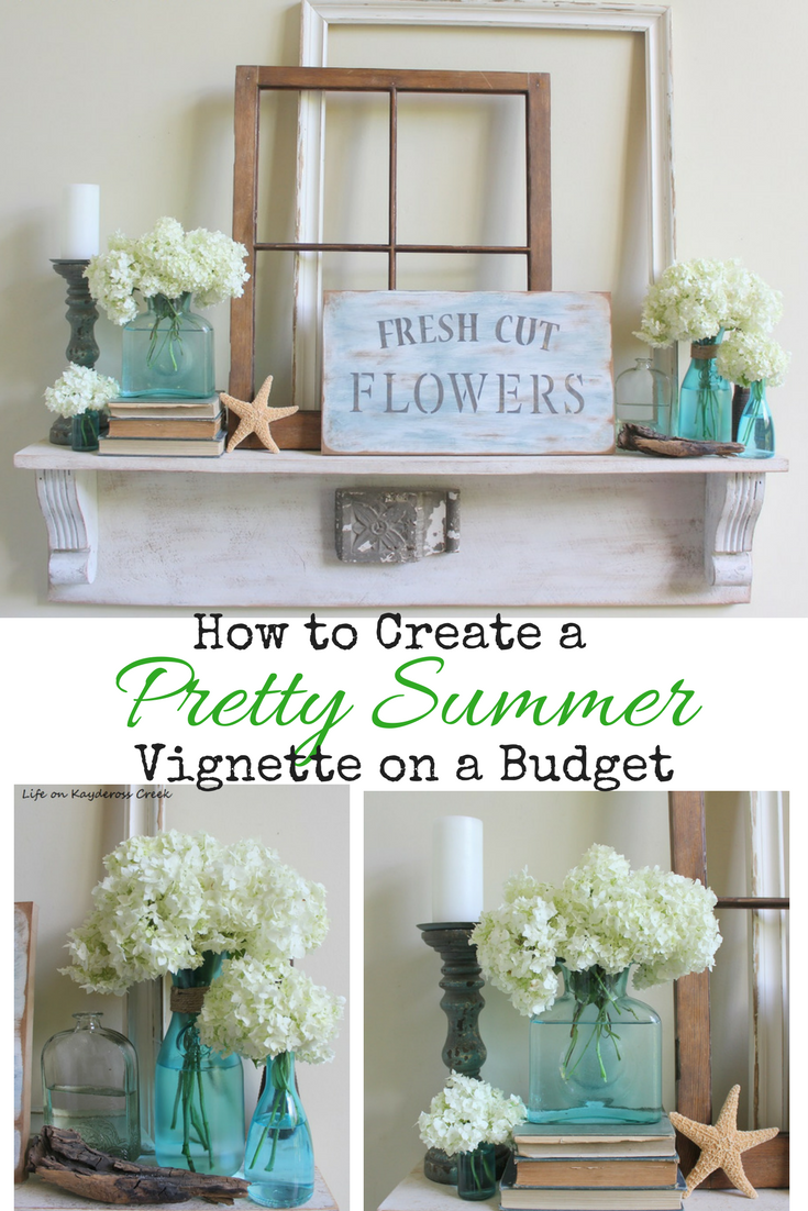 How to create a Summer Vignette on a Budget - DIY Projects - Life on Kaydeross Creek