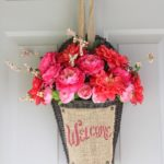 A Colorful DIY Alternative for a Front Door Wreath
